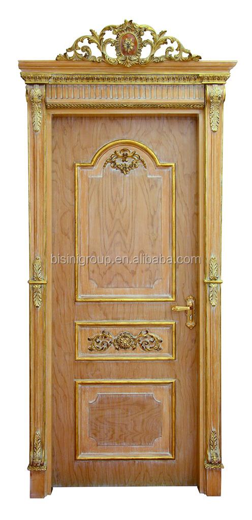 Exquisito estilo rococ franc s puerta de madera maciza for Puertas de madera estilo antiguo