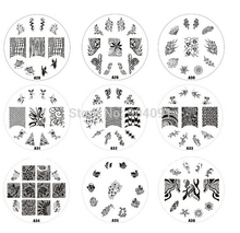 HOTSALE A Series 30pcs lot nail Art Stamping Plates Image r Scraper Steel Polish Konad Nail