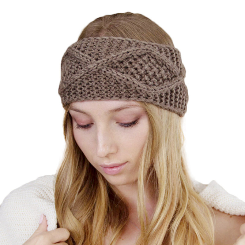 New Arrival Women Chunky Cable Knitted Turban Handmade Crochet <strong>Headband</strong> Ear Warmer Head Wrap Knit EarMuff <strong>Headband</strong> TD-194