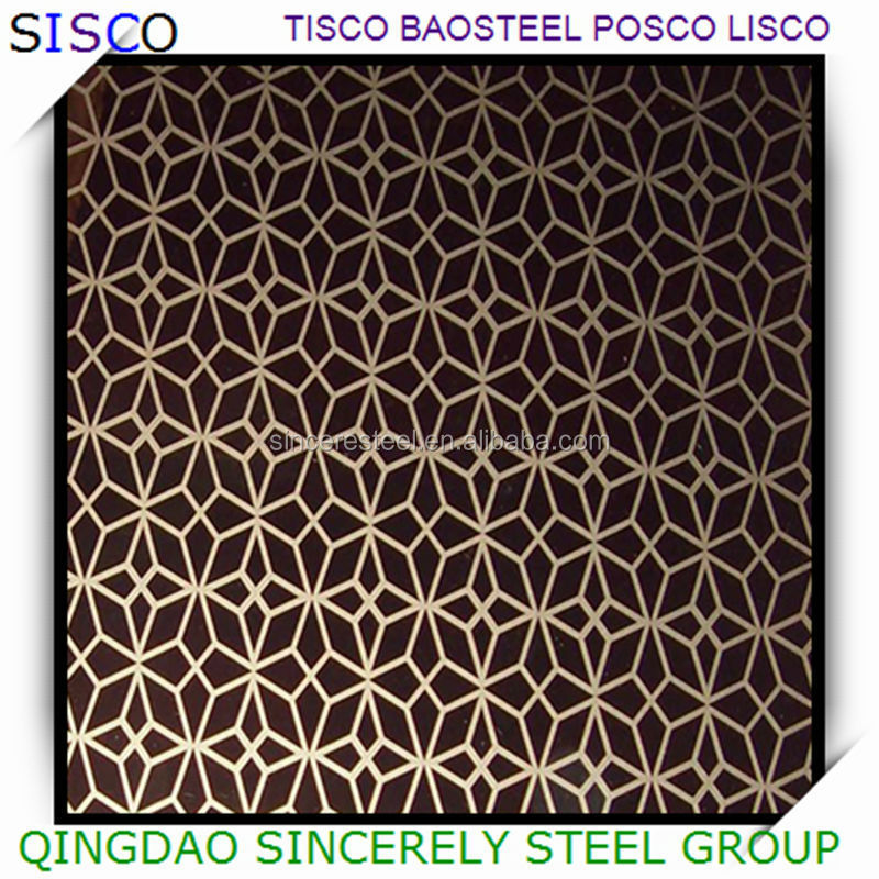 decoration sheet mental, etched stainless steel sheet for decoration price list