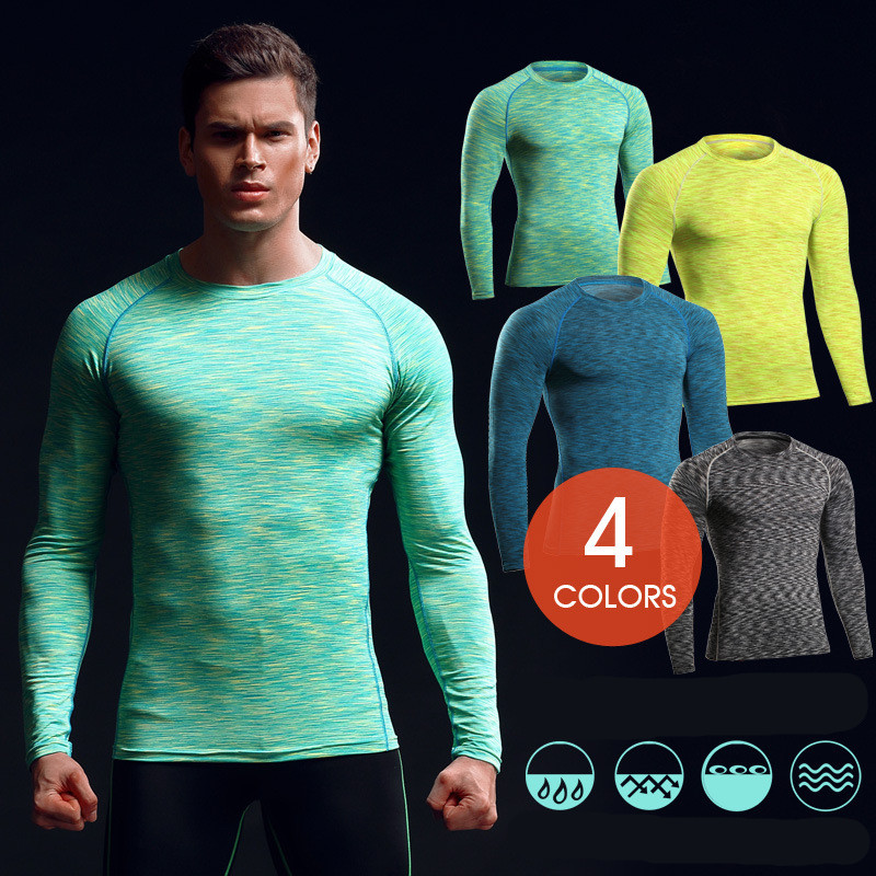 2017 Latest Fashion Wholesale Custom Gym Compression Tights T-shirts Wear/Gym Apparel Mens