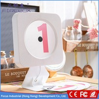Cheapest creative white LCD screen dispaly ABS material Bluetooth 4.2 home players with usb jukebox cd player