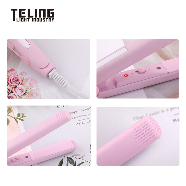 2019 New Mini Straightener Curling Iron Curling Straight Dual-use Internal Button Bangs Curling Iron Splint
