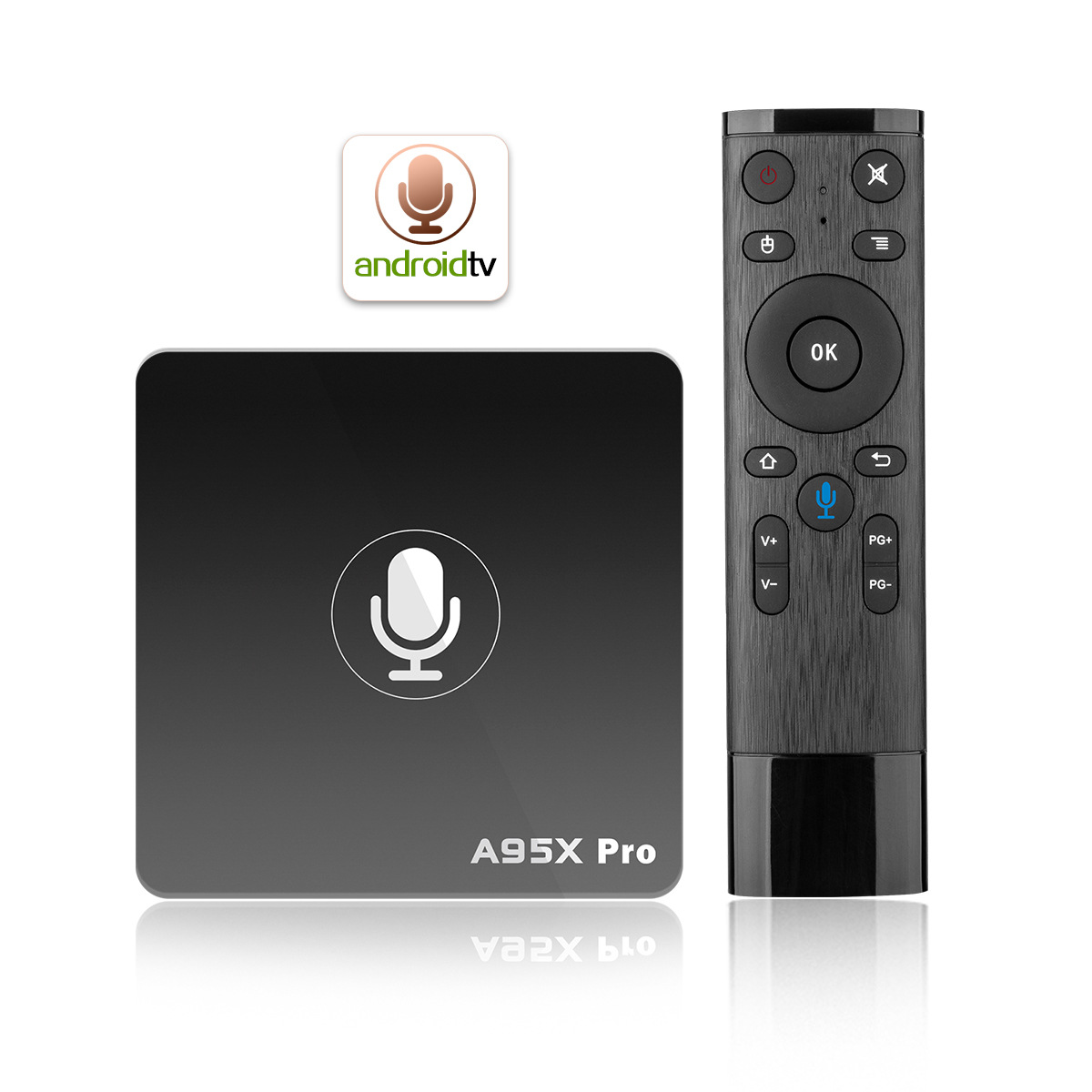 A95X Pro Google Android 7.1 TV Kutusu 2 GB RAM 16 GB ROM 4 K UHD Amlogic Media Player ile Ses Uzaktan 2.4G WiFi