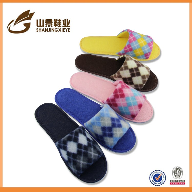 wholesale colored bright ladies slipper short pile soft slipper indoor