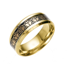 Hight Quality Simple Enganement Muslim New Gold Ring Model For Men