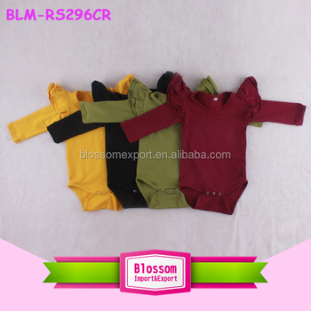 Custom Design Wholesale Blank Baby Clothes Romper Angel Wing Kids