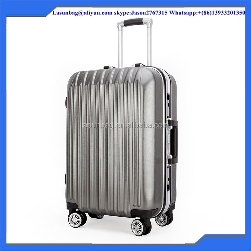 durable long trip luggage suitcase ABS+PC hybrid trolley luggage bag set from china