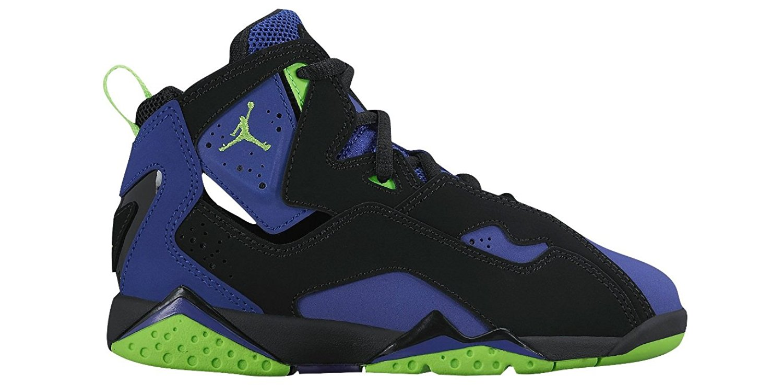 separation shoes e9ab9 bb5d9 Get Quotations · Jordan True Flight Black Electric Green-Concord (Little  Kid)
