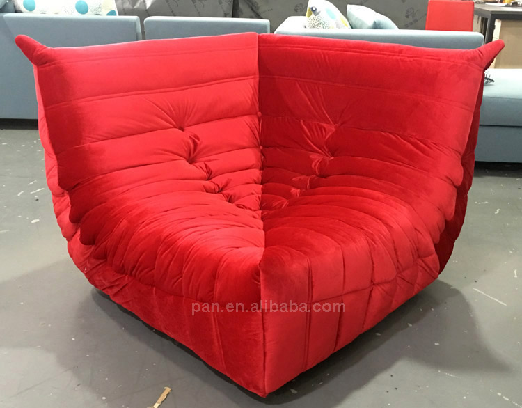 Orta yüzyıl modern tasarım mobilya tekstil döşeme Togo modüler koltuk takımı