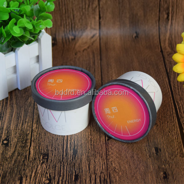 New design waterproof single wall food grade virgin pulping ice cream paper cup with lid