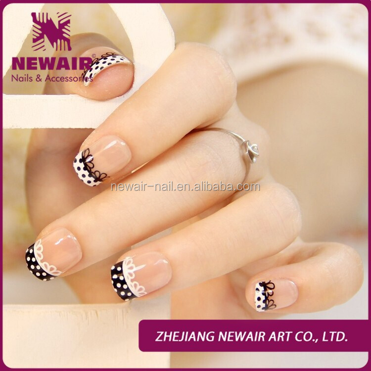 Elegant Design Airbrush Nail Art Simple Pre Lace Design Nail Art ...
