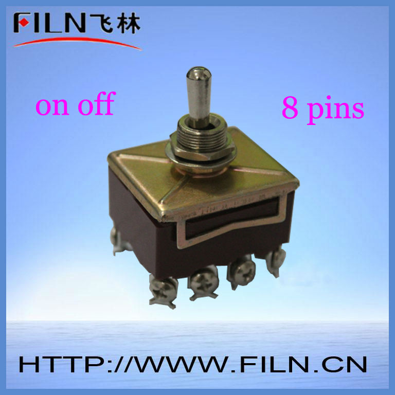 on off 2 way 8 pin mini brass toggle switch