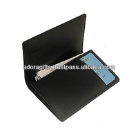 Genuine business card case leather / large capacity name card holder wallet / latest mens credit card holder