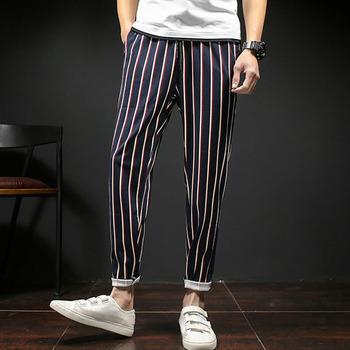 476f5c86b555 China Manufactures Mens Ninth Sweatpants Stripe Jogger Harem Pants ...