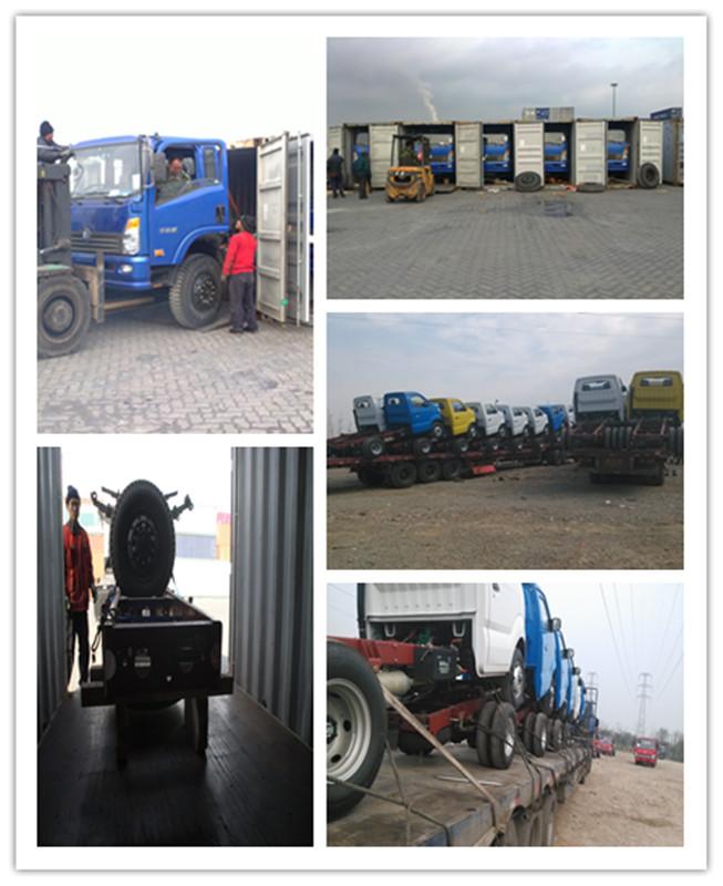 sino cdw N757P3I diesel Euro-II 4*2 left hand drive 5t light cargo truck