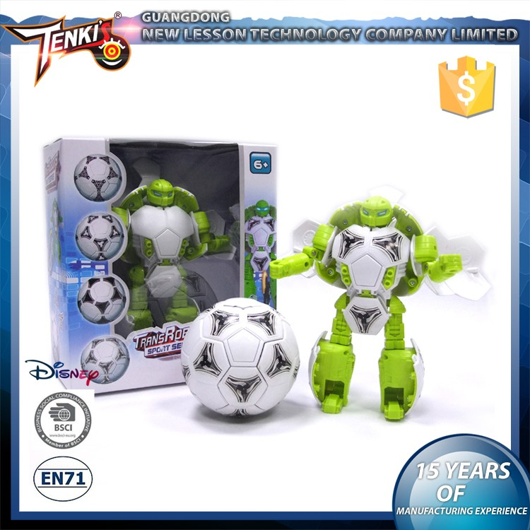 new football high quality kids plastic robot toys