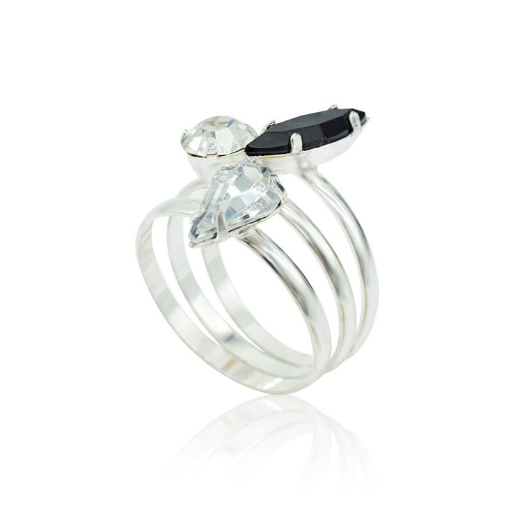 Fancy Design Wedding Diamond Simple Ring Tanishq Silver Jewellery