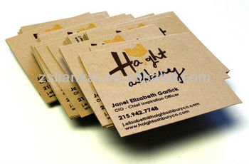 recycled kraft paper business card printing service - Kraft Paper Business Cards
