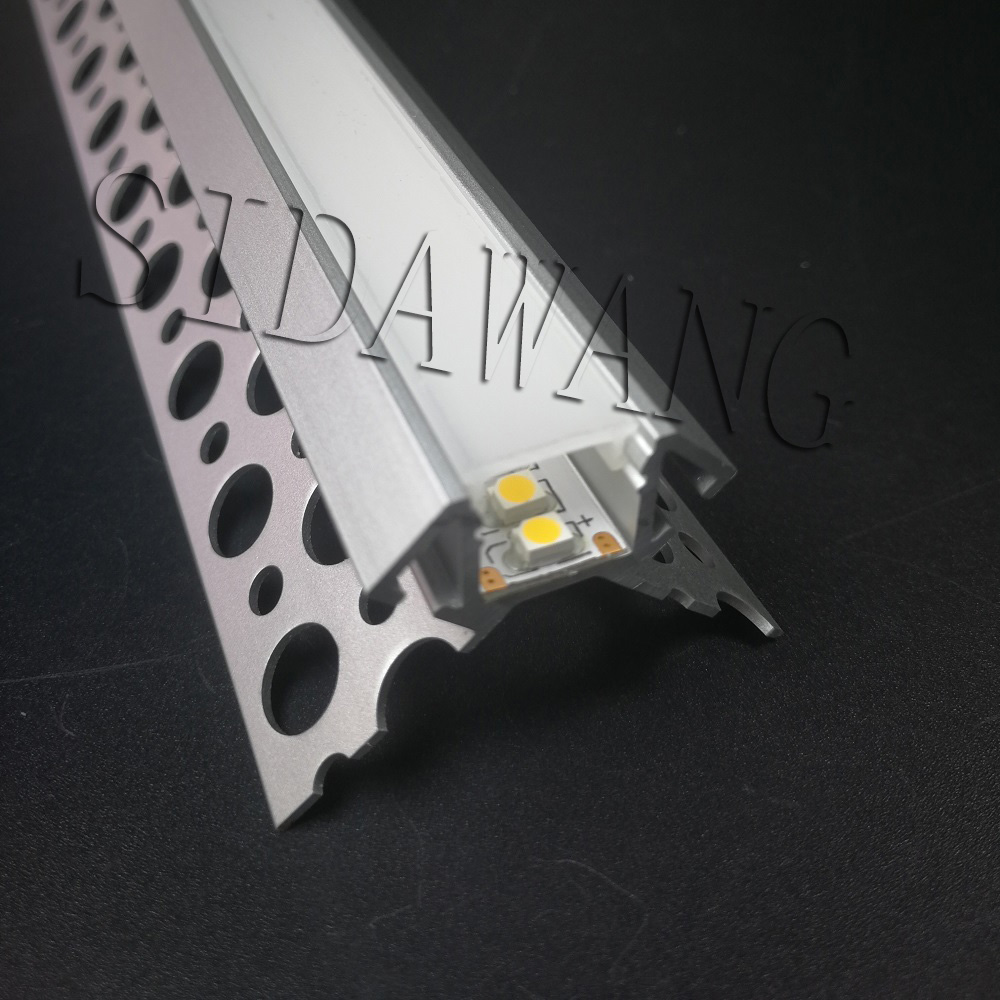 Trimless plaster gypsum wall profile for led strips light ,Drywall Led aluminum profile channel for 10mm strip