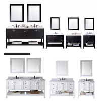 Qierao Various Inches Bathroom Sink Vanity with Bottom Shelf Used Bathroom Vanity Cabinets GBL-1827SF