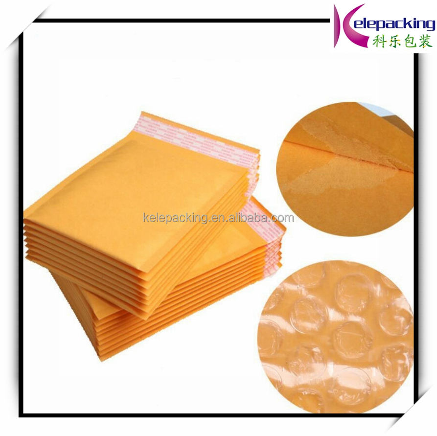 Cheap Custom padded gold kraft envelope with seal
