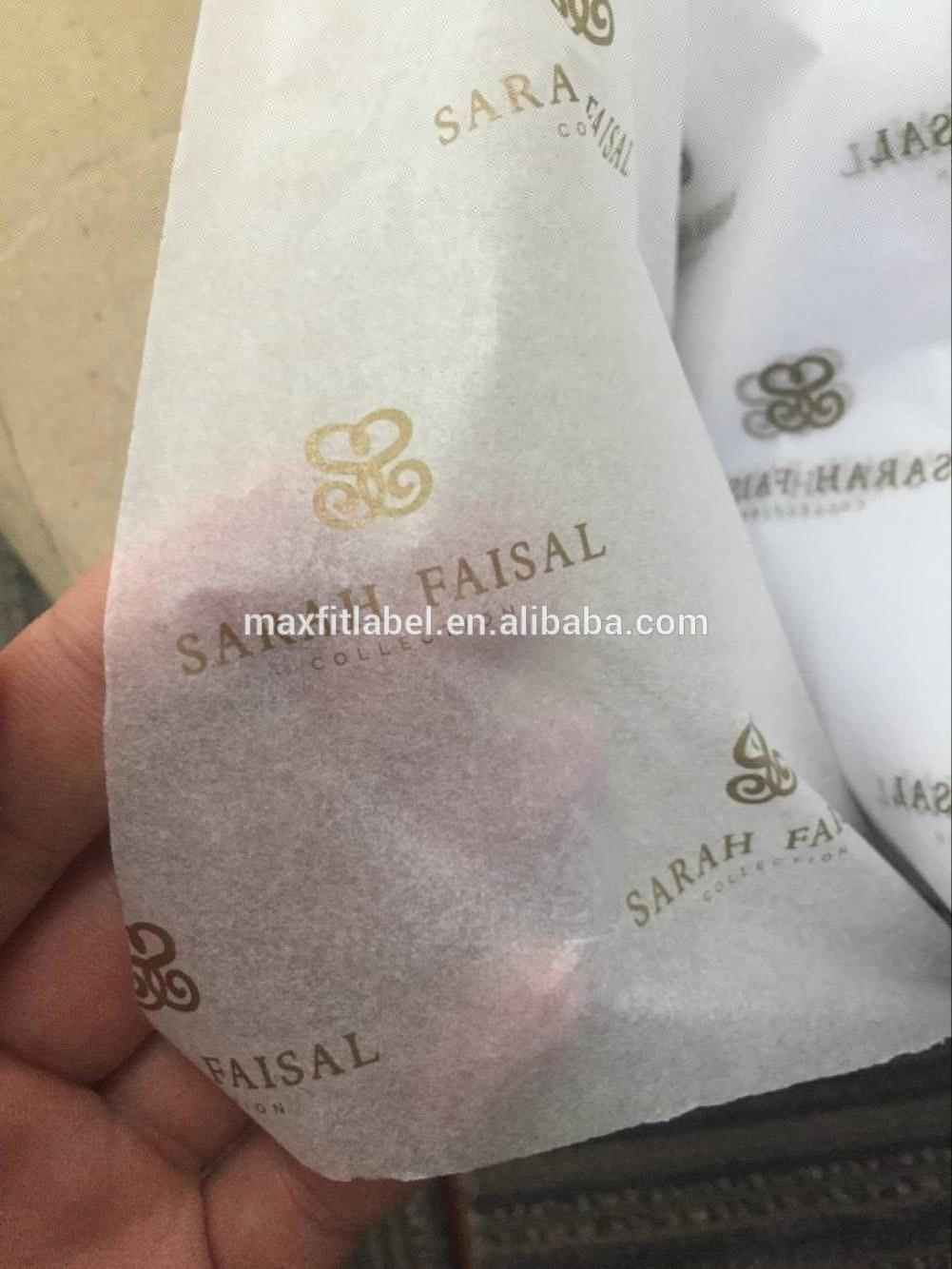 2018 New custom rose gold foil logo gift wrapping tissue paper