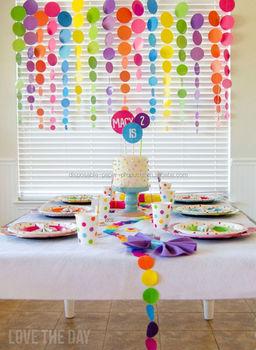 New Girls Princess Room Decorating Kit Polka Dot Birthday Party Circle  Garlands Hanging Party Decoration - Buy Polka Dot Birthday Party ...