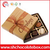 Customized chocolate box with PVC insert packaging box