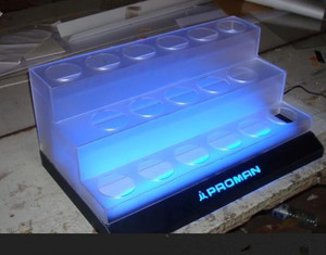 acrylic cosmetic stands display with led lighting box, makeup cosmetic display stand
