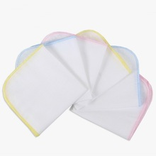 MY 4pcs Infant Accessories Handkerchief Baby Gauze Cotton Fabric Muslin Squares Washcloth Towels Sweat Absorbing Pad