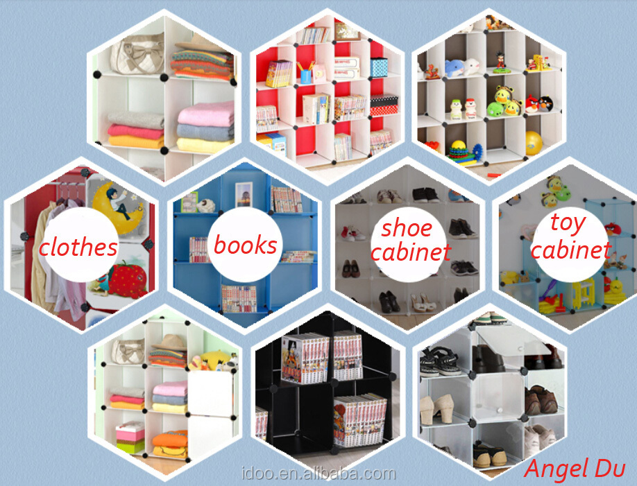 2 Black Magic Cubes Plastic Wardrobe Organizer For Baby And ...