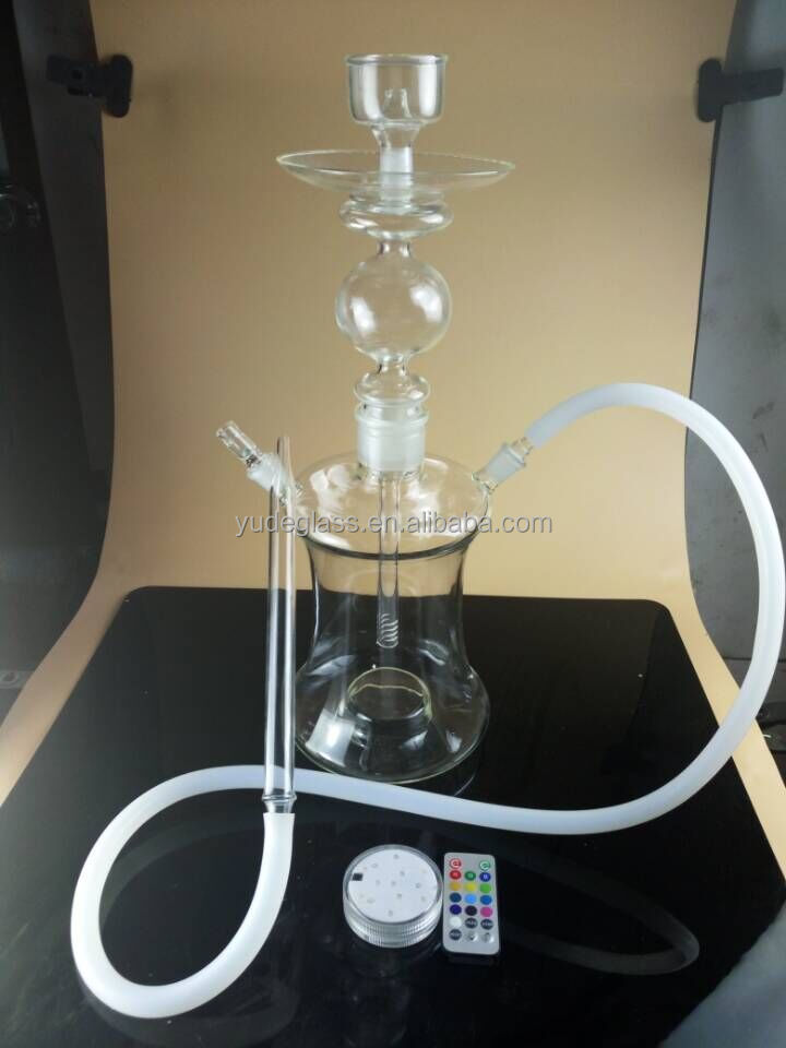 wholesale hookah and the led glass hookah hot sale