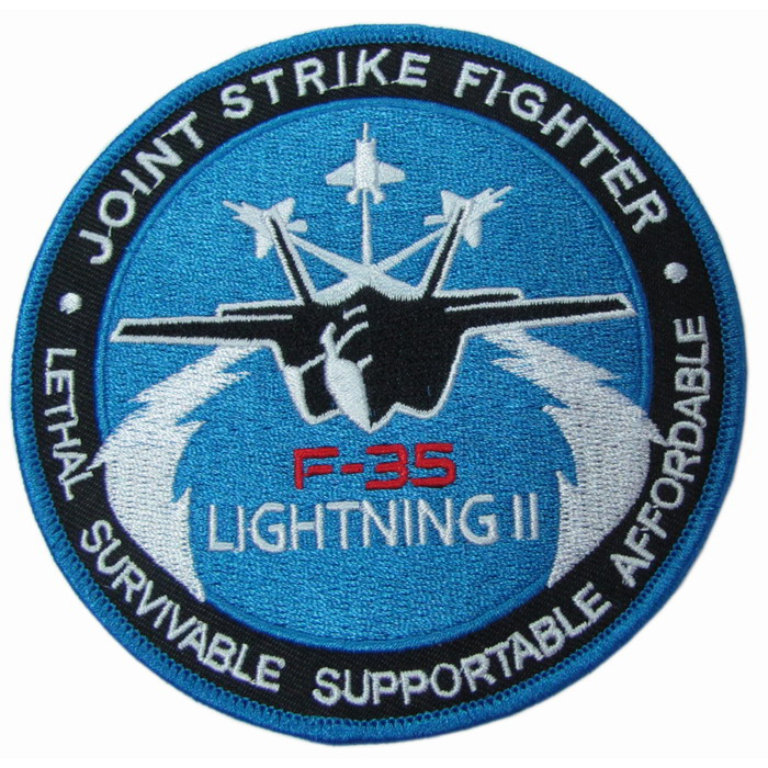 LOCKHEED MARTIN F-35 LIGHTNING II JOINT STRIKE FIGHTER EUA FORÇA AÉREA PATCH MARINHA