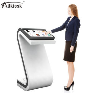 21.5 32 inch lcd touch screen restaurant menu printer kiosk with pos holder for payment