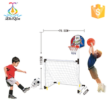 2 in 1 kinder sport spielzeug montieren fußball tor mit <span class=keywords><strong>basketball</strong></span> hoop