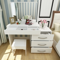2019 new design dressing table french style solid wood white mirror dresser