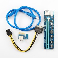 Stock Available pci express card pcie 1x to 16x pcie riser cable with 60cm cable