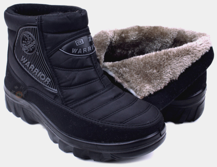 Warrior snow boots men lady warm cotton shoes waterproof