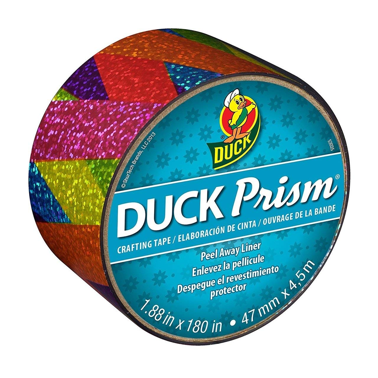 "Bulk Prism Crafting Tape, Rainbow Ribbon, 1.88""x 180"": Duck Brand 283705 (84 Prism Tape Rolls)"
