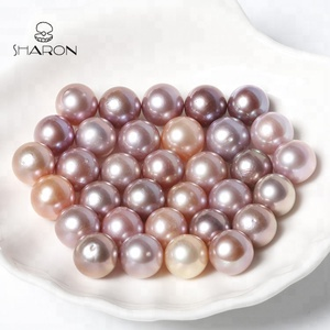 Wholesale 9-11mm High Quality Natural Freshwater Round A Pink Lavender Edison Pearls
