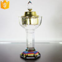home accessory crystal glass aroma oil burner