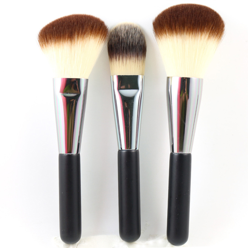 3Pcs Professional Makeup Brush Liquid Foundation  Brush  Large Powder Blush Brush Set Portable Make up Brushes Cosmetic Tools