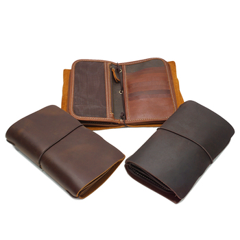 YD-1050 Multiple men bifold card holder Full grain genuine leather vintage wallet