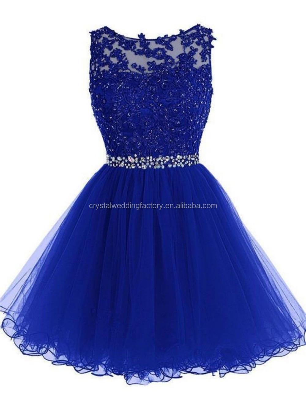 Appliques Ruffles Tiered Hollow Ball Dress Short Prom Vestido Mini ...