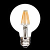 ce rohs approved dimmable led filament bulb 8watts 85-265v g80 led bulb