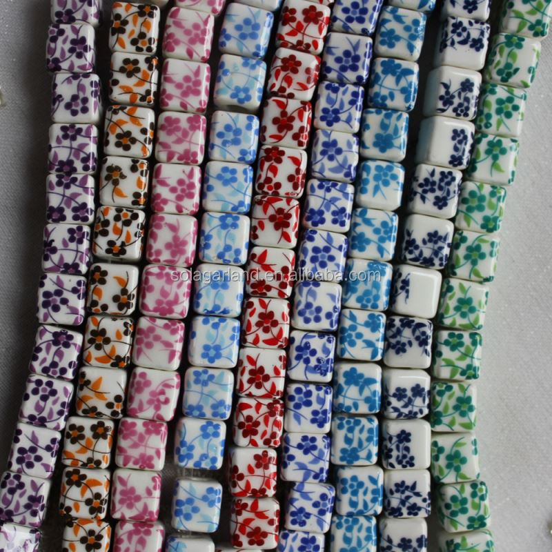 10MM alibaba flower ceramic beads porcelain beads beads for jewelry making