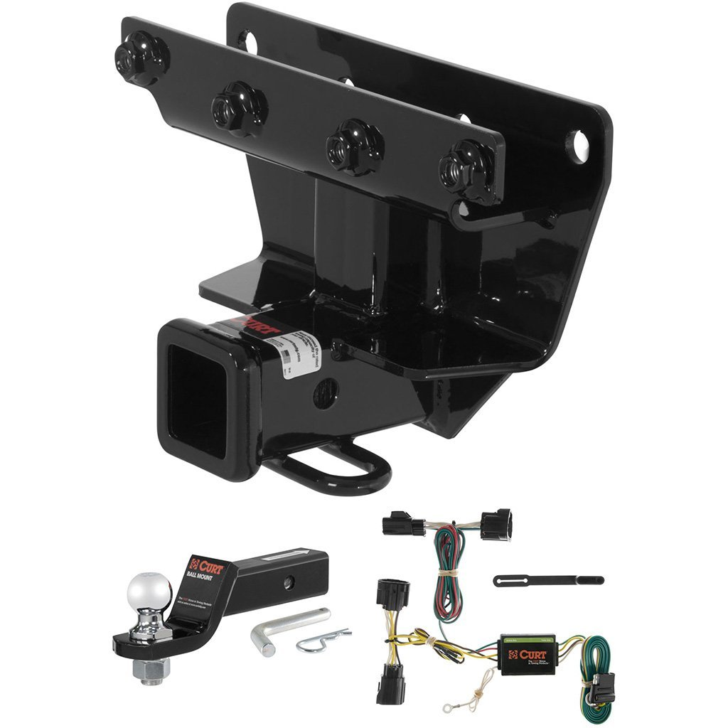 "CURT Class 3 Trailer Hitch Tow Package with 2"" Ball for 2006-2010 Jeep Commander"