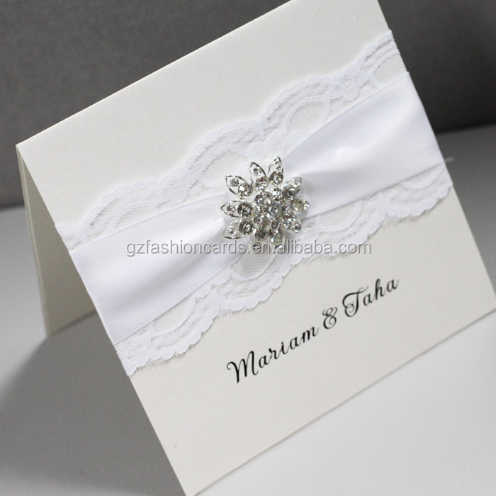Luxury lace handmade wedding invitation card designs buy for Luxury handcrafted wedding invitations