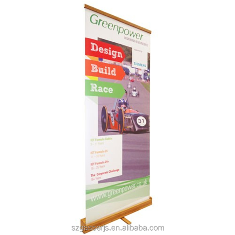 UV Printing Bamboo Roll Up Stand Banner With Printing